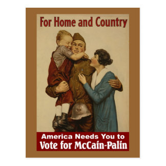 For Home and Country - Postcard