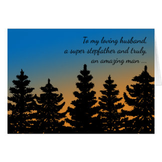 For Husband   Stepfather   Pine Trees Father's Day Card