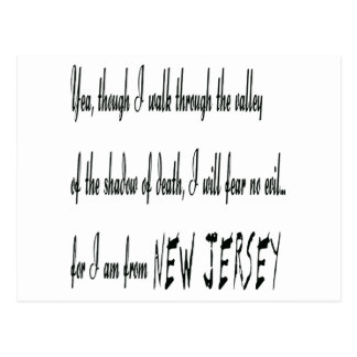 For I Am From New Jersey Postcard