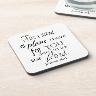 For I Know The Plans I Have For You Quote Coasters
