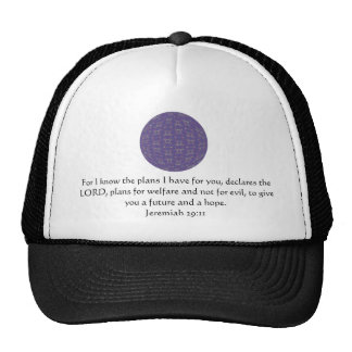For I know the plans I have  - Jeremiah 29:11 Mesh Hats