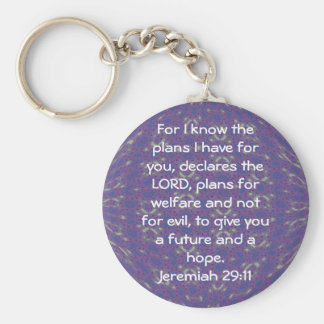 For I know the plans I have  - Jeremiah 29:11 Keychain