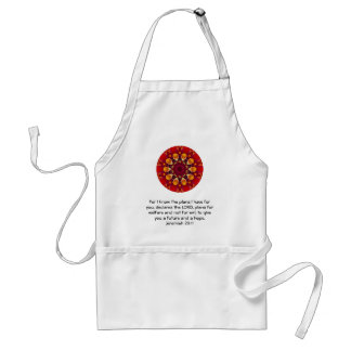 For I know the plans I have ....  Jeremiah 29:11 Standard Apron