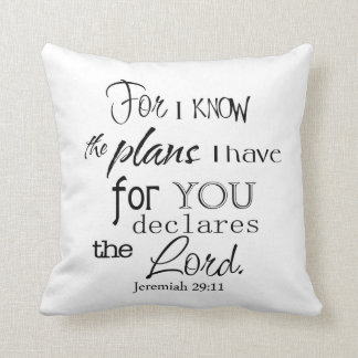 For I Know the Plans - Throw Pillow