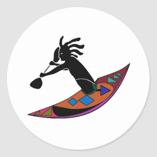FOR KAYAK VIBES CLASSIC ROUND STICKER