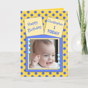 1 year old boy birthday cards zazzle ca for kids 1 year old little boy birthday greeting card m4hsunfo