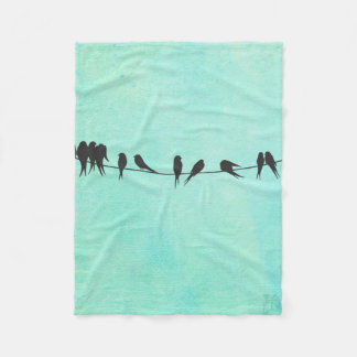 For Kids, Birds On A Wire charming Childs blanket