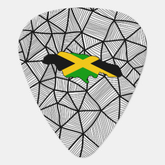 For Kids: Creative Jamaica Flag With Map Guitar Pick