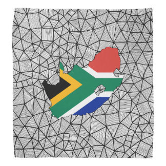 For Kids: Creative South Africa Flag With Map Bandanas