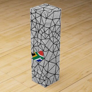 For Kids: Creative South Africa Flag With Map Wine Gift Box