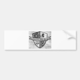 For King and Country Black and White Logo Bumper Sticker