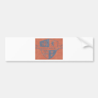 For King and Country Red Logo Bumper Sticker
