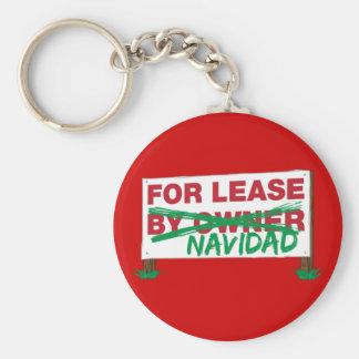 For Lease Navidad - Feliz Navidad Funny Christmas Basic Round Button Keychain