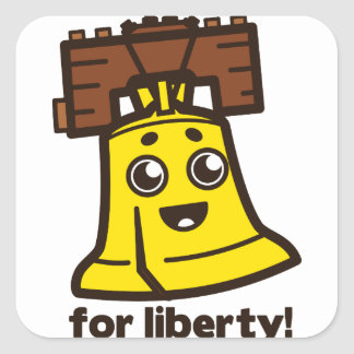 For Liberty Square Sticker
