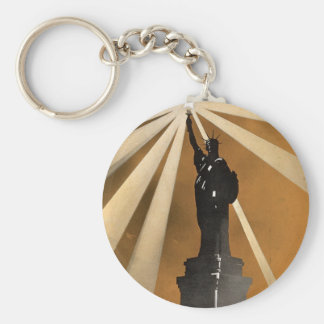 For Liberty's Sake ~ Enlist in the Navy Basic Round Button Keychain