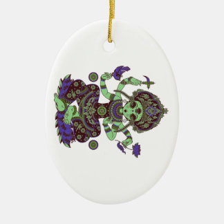 FOR MANY BLESSINGS CERAMIC OVAL ORNAMENT
