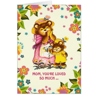 For Mom on Mother's Day. Sweet Bears Custom Cards