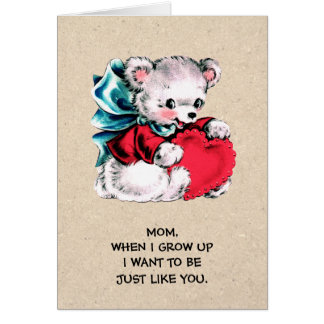For Mom on Mother's Day. Sweet Teddy Bear Cards