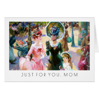 For Mother on Mother's Day Fine Art Greeting Cards