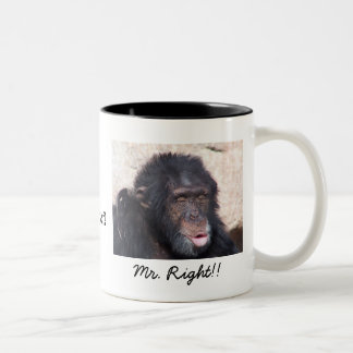 For Mr RIght Two-Tone Coffee Mug