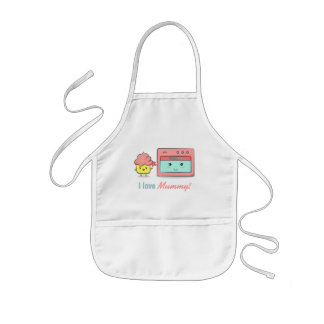 For Mum - Cute cupcake presenting flower to oven Kids Apron
