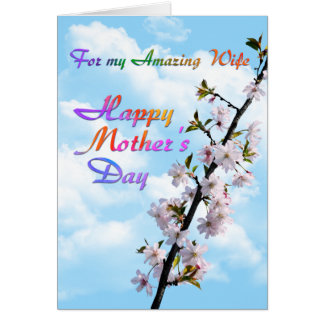 For my Amazing Wife Happy Mother's Day Card