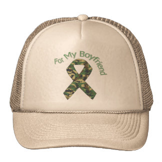 For My Boyfriend Military Ribbon Trucker Hat