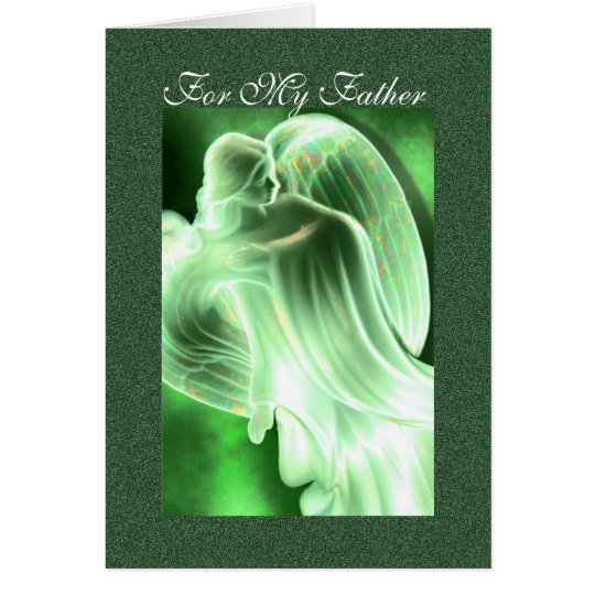 For My Father - Angel Greeting Card