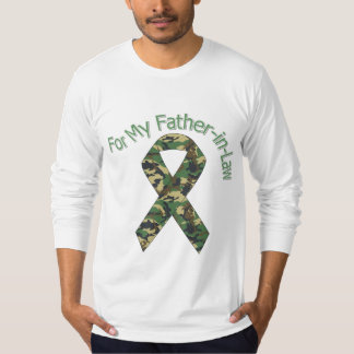 For My Father-in-Law Military  Ribbon T-Shirt