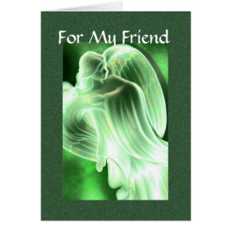 For My Friend - Angel Greeting Card