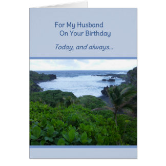 For My Husband On Your Birthday Greeting Card