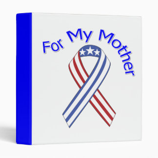 For My Mother Military Patriotic Binders