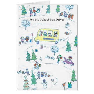 For My School Bus Driver Greeting Cards