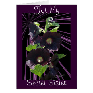 For My Secret Sister-customize any occasion Card