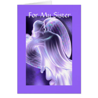 For My Sister - Angel Greeting Card