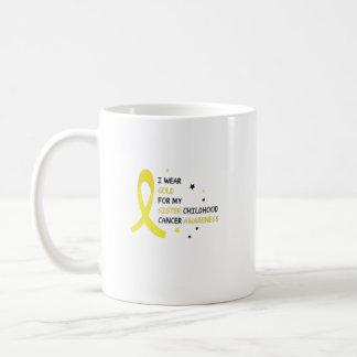 For My Sister childhood cancer awareness Fighting Coffee Mug