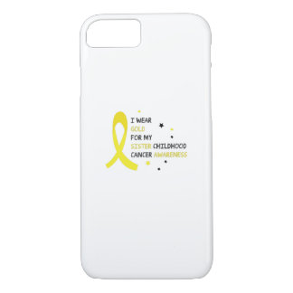 For My Sister childhood cancer awareness Fighting iPhone 8/7 Case