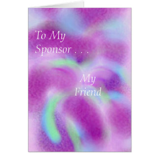 For my sponsor card