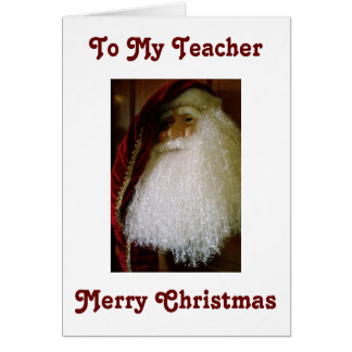 FOR MY TEACHER/THANK YOU AND MERRY CHRISTMAS CARD