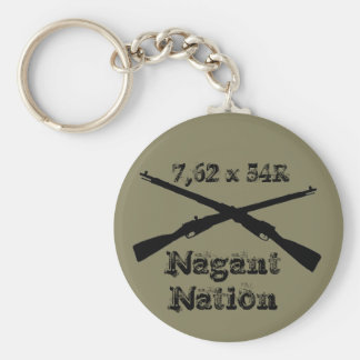 For nagant collectors basic round button keychain