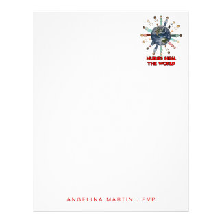 for Nurse with Name - Worldwide Personalized Letterhead