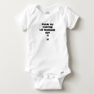 FOR OR AGAINST THE GOYISH MARRIAGE? - Word games Baby Onesie