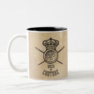 For People Who Love Sewing: Queen of Couture Two-Tone Coffee Mug
