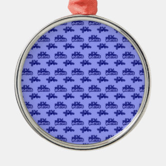 For Perfect gift maths to lover - Blue model Metal Ornament