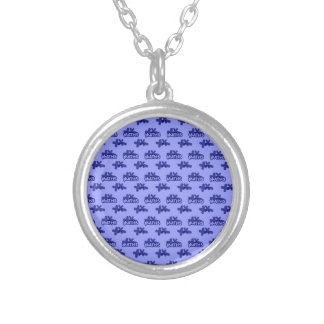 For Perfect gift maths to lover - Blue model Silver Plated Necklace