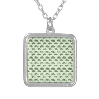 For Perfect gift maths to lover - Green model Silver Plated Necklace