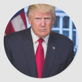 For President Donald Trump Fans Classic Round Sticker