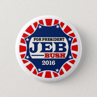 For President Jeb Bush 2016 2 Inch Round Button