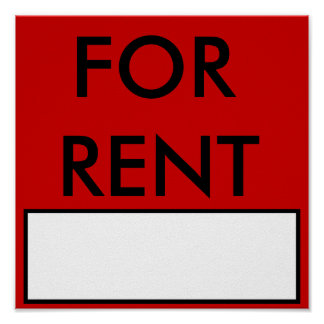 apartment for rent sign gifts t shirts art posters other gift ideas zazzle. Black Bedroom Furniture Sets. Home Design Ideas