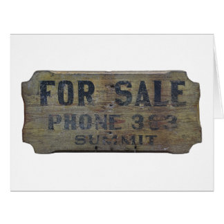 for sale card